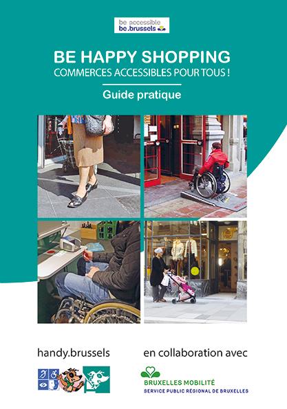 Affiche guide pratique accessibilité des commerces bruxellois