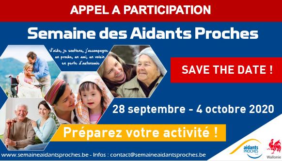 Affiche Semaine des Aidants proches du 28 septembre au 4 octobre 2020