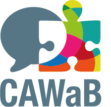 Logo du CAWaB (Collectif Accessibilité Wallonie Bruxelles)