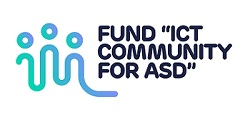 "Logo du fonds de la Fondation Roi Baudouin : ""FUND ICT COMMUNITY FOR ASD"""