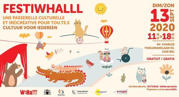 Affiche FestiWhalll : évènement du 13 septembre de 11h à 18h avenue Charles Thielemans 93 - 1150 Bruxelles