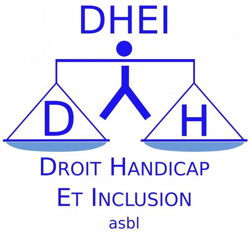 Logo de l'asbl DHEI (Droit Handicap Et Inclusion)