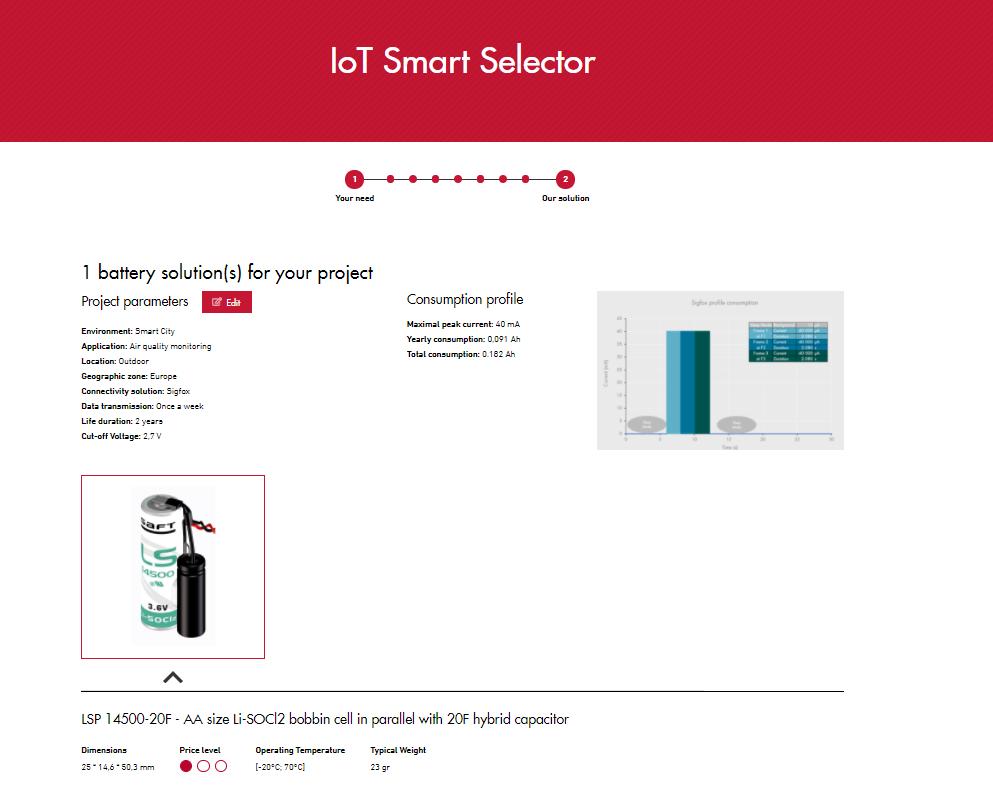 Saft's IoT Smart Selector