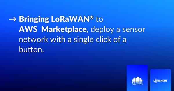 LoRaWAN in AWS marketplace