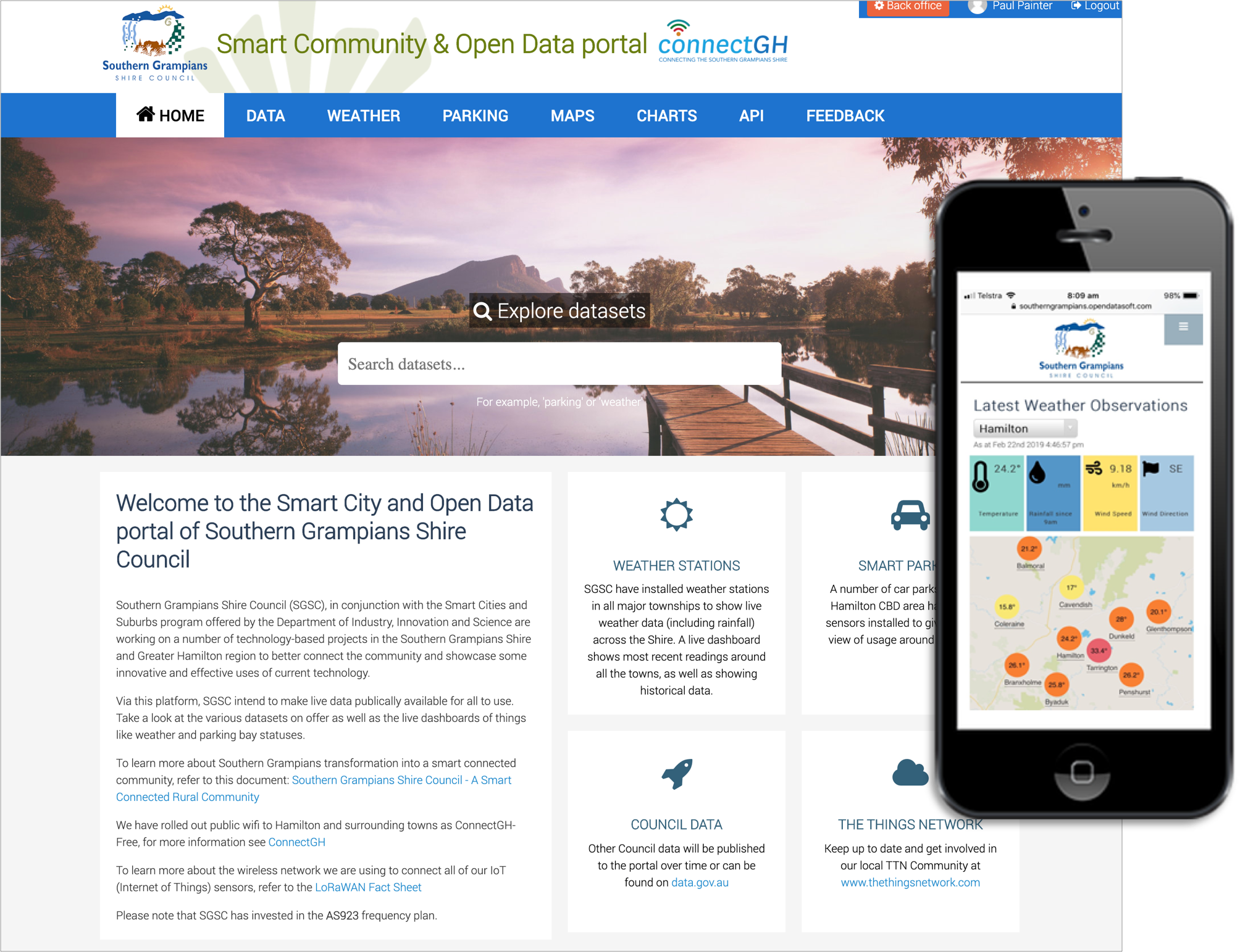 connectGH, an open data portal for the Southern Grampians Shire Council