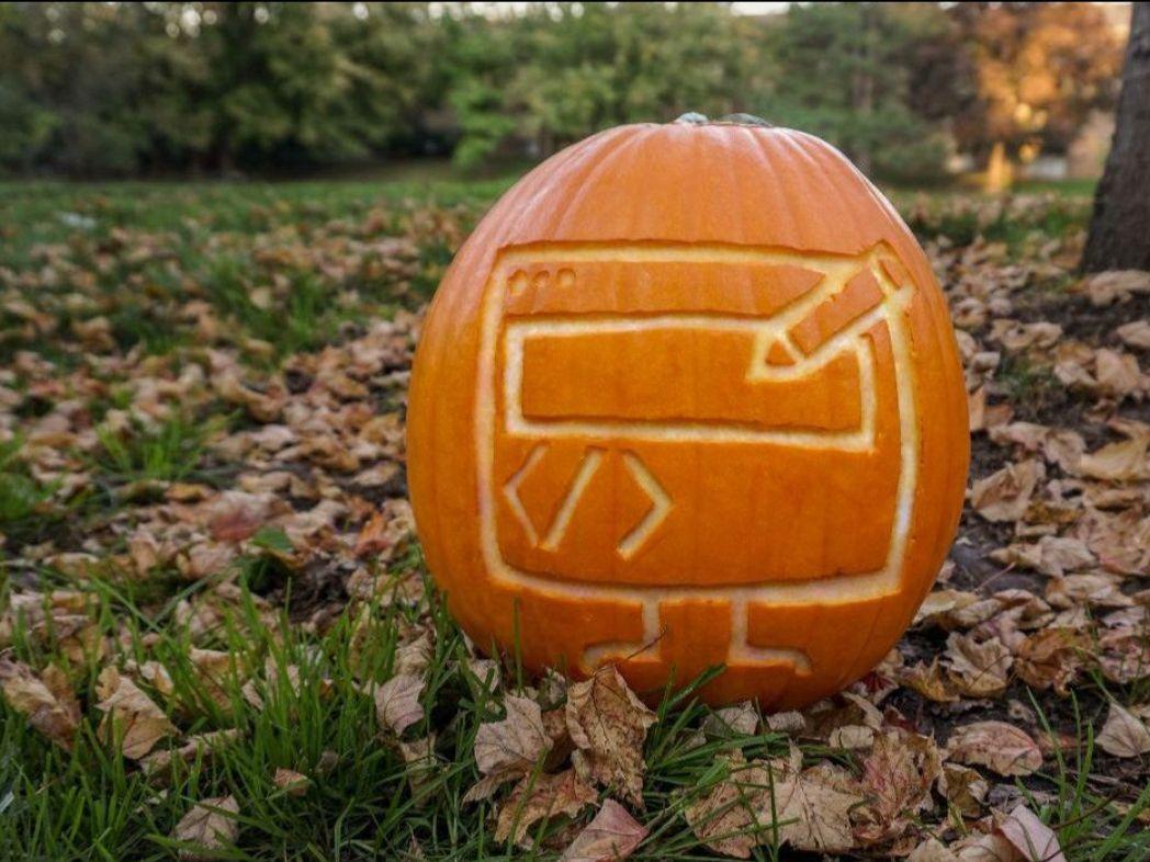 UX design carved pumpkin