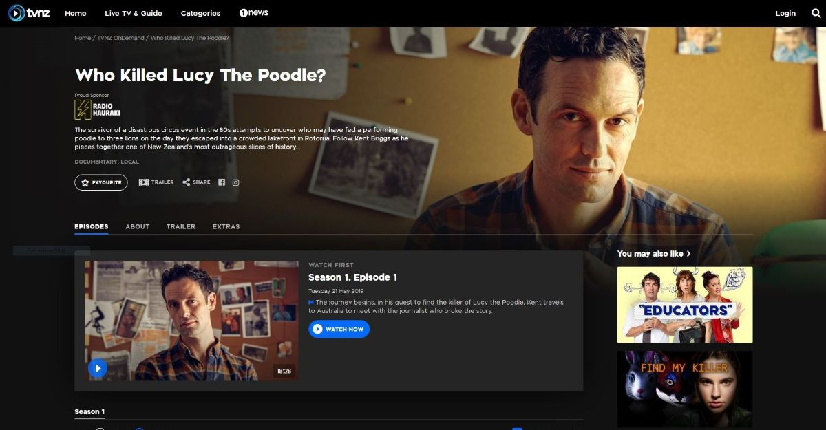 'Who Killed Lucy the Poodle?' on TVNZ OnDemand.