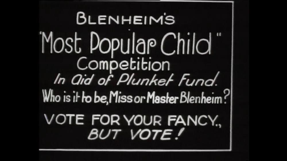 Title card for 'Blenheim's Most Popular Child' (F9862).