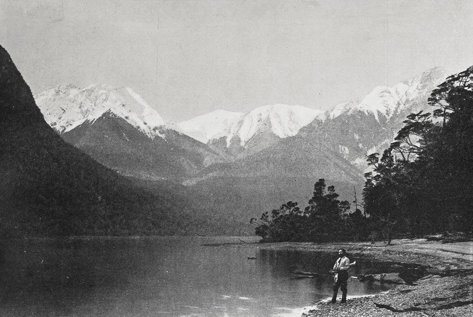 Otago's Cold Lake Regions: North Fiord, Lake Te Anau. Courtesy Auckland Libraries.