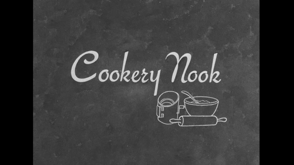Title card from 'Cookery Nook'.