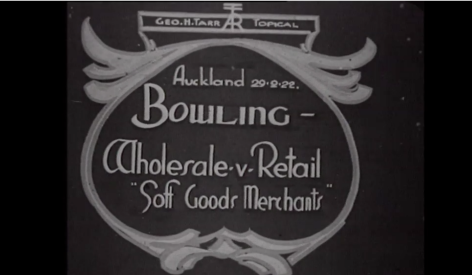 Title card from Bowling: Wholesale V Retail 'Soft Goods Merchants'(F9919).