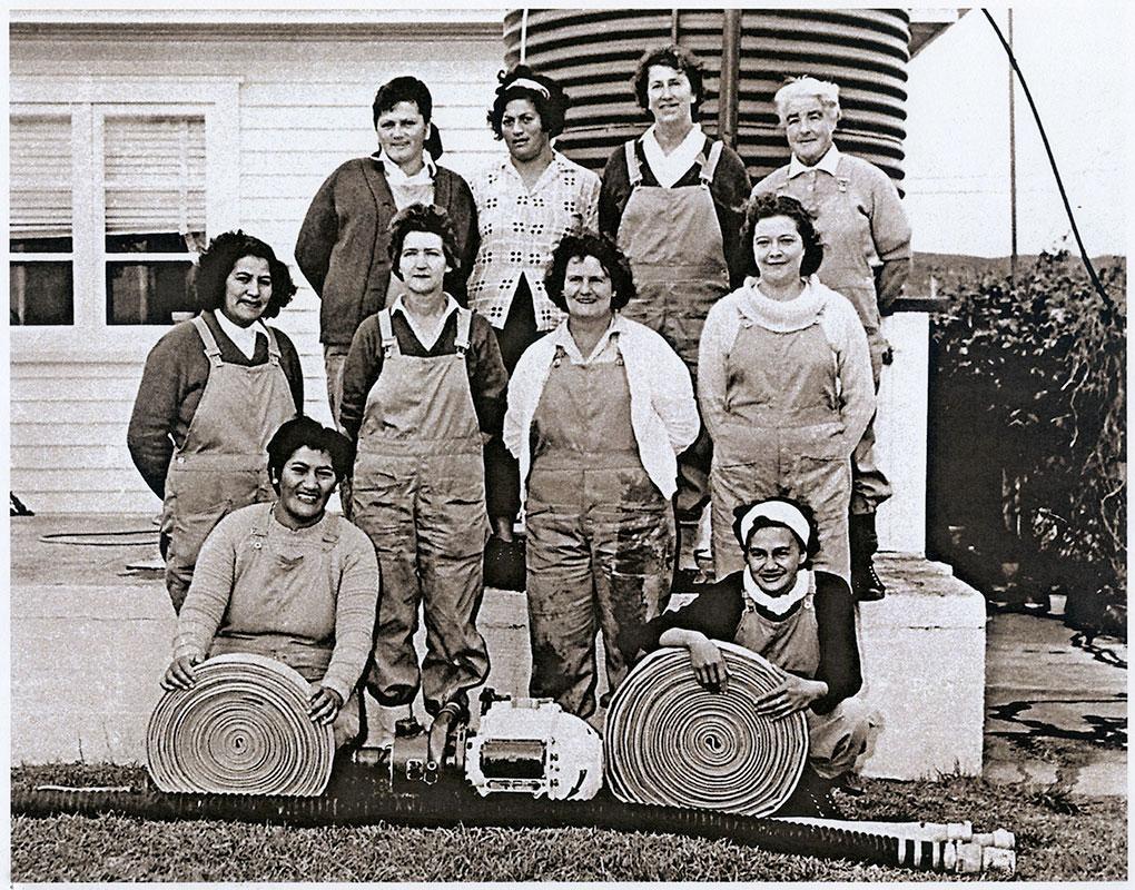 Ahipara Women's Fire Brigade.