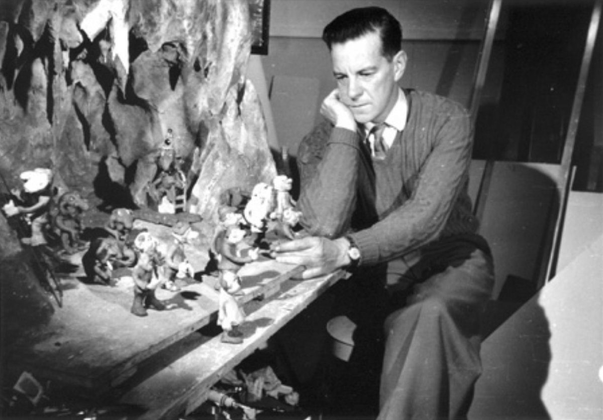 Fred O'Neill with the 'Enchanted Forest' set.