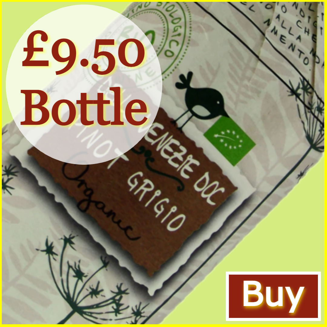 Great Grape Escape - Buy Botter Organic Pinot Grigio £9.50/bottle