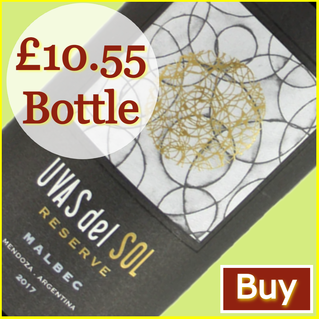 Great Grape Escape - Buy Uvas del Sol Reserve Malbec £10.55/bottle