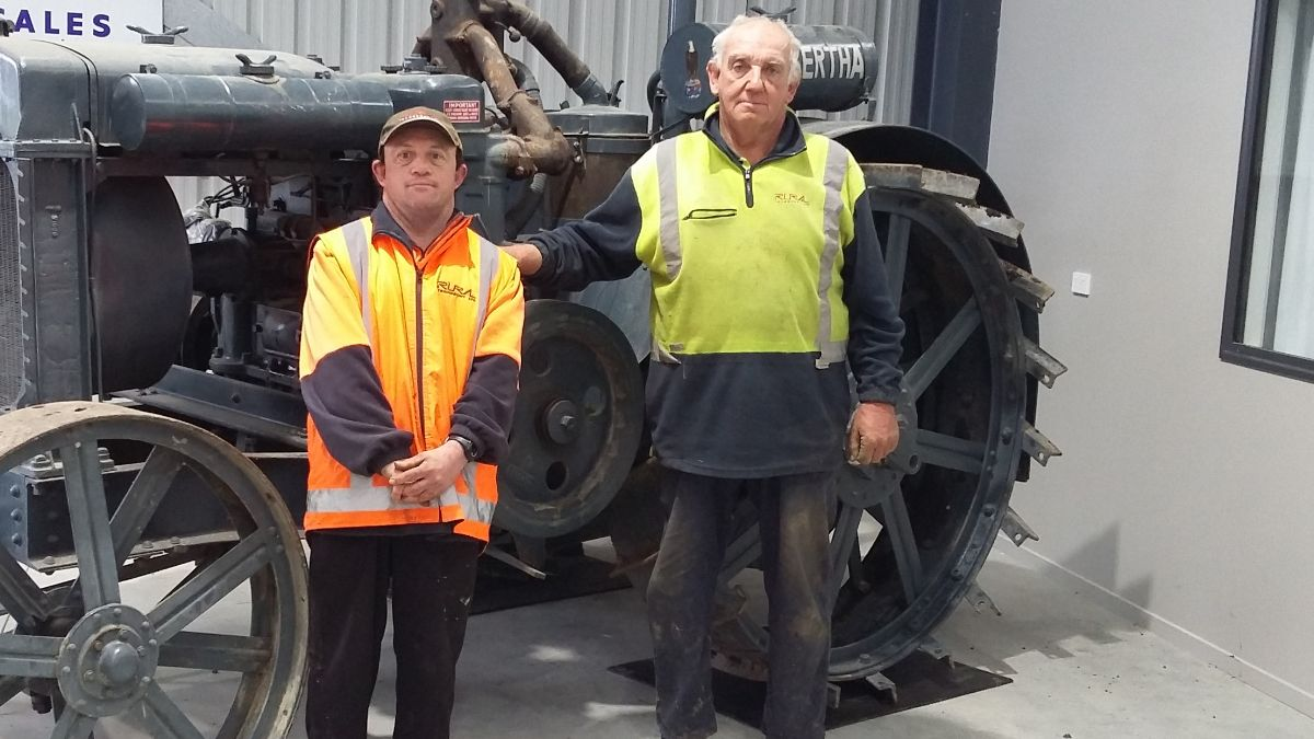 Craig Begg, with his dad Trevor. Craig is an essential worker.