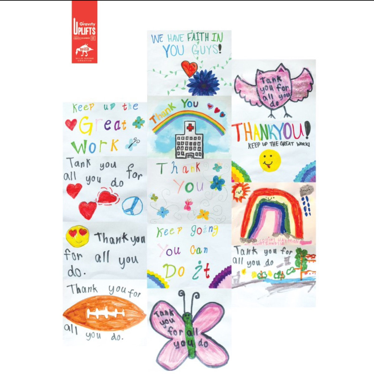 Collection of thank you cards from local artists.