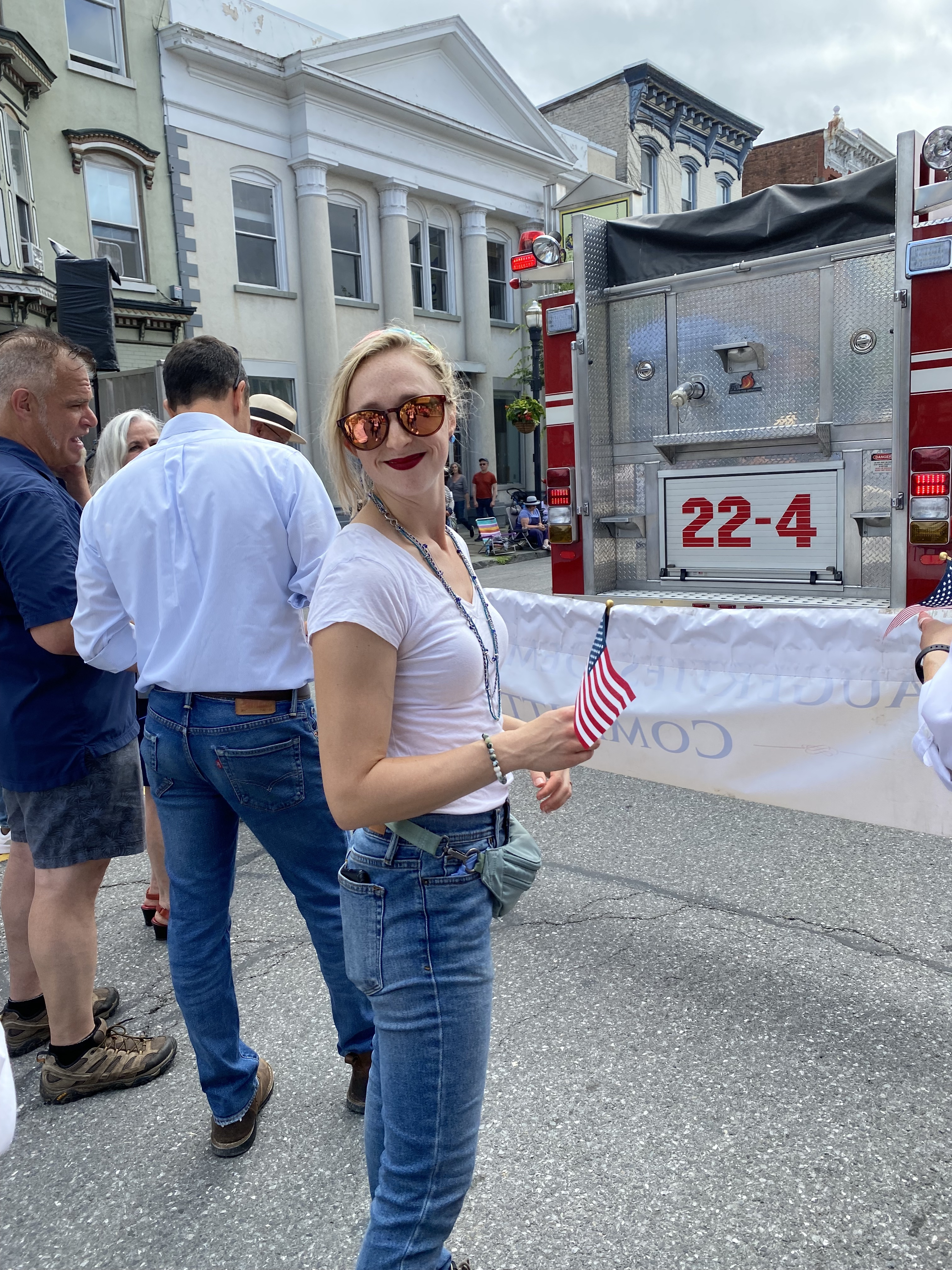 Kay at the Saugerties 4th of July parade