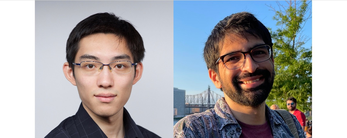 Headshots of Yinuo Jin (left) and Ben Wesley (right)