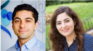 Headshots of Benjamin Izar (left) and Elham Azizi (right)