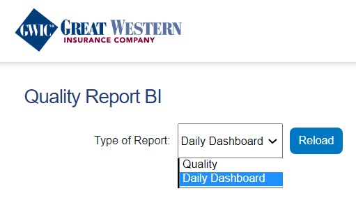 GWIC Daily Report dropdown img
