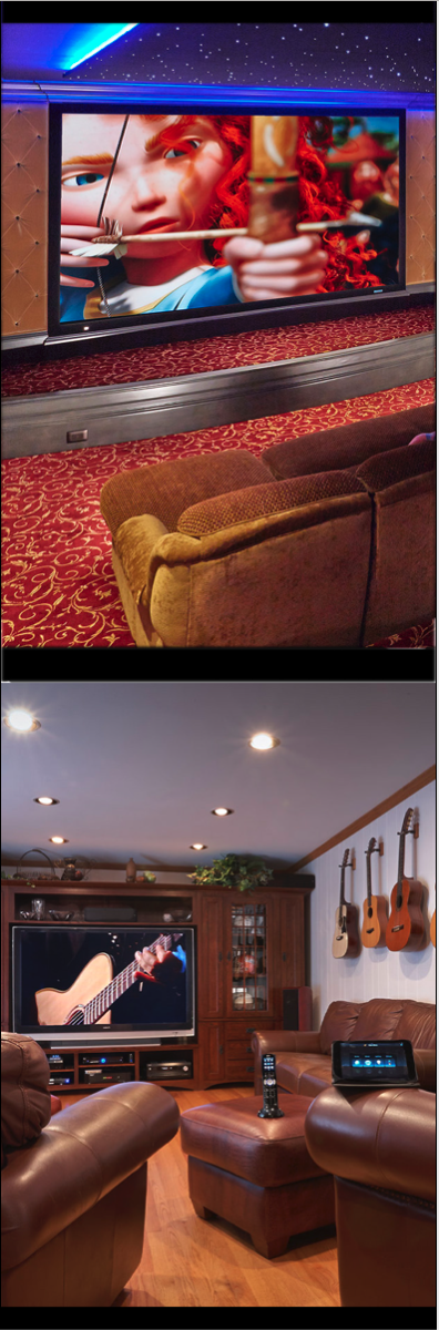 Home Theater, Theater chairs, Projection TV
