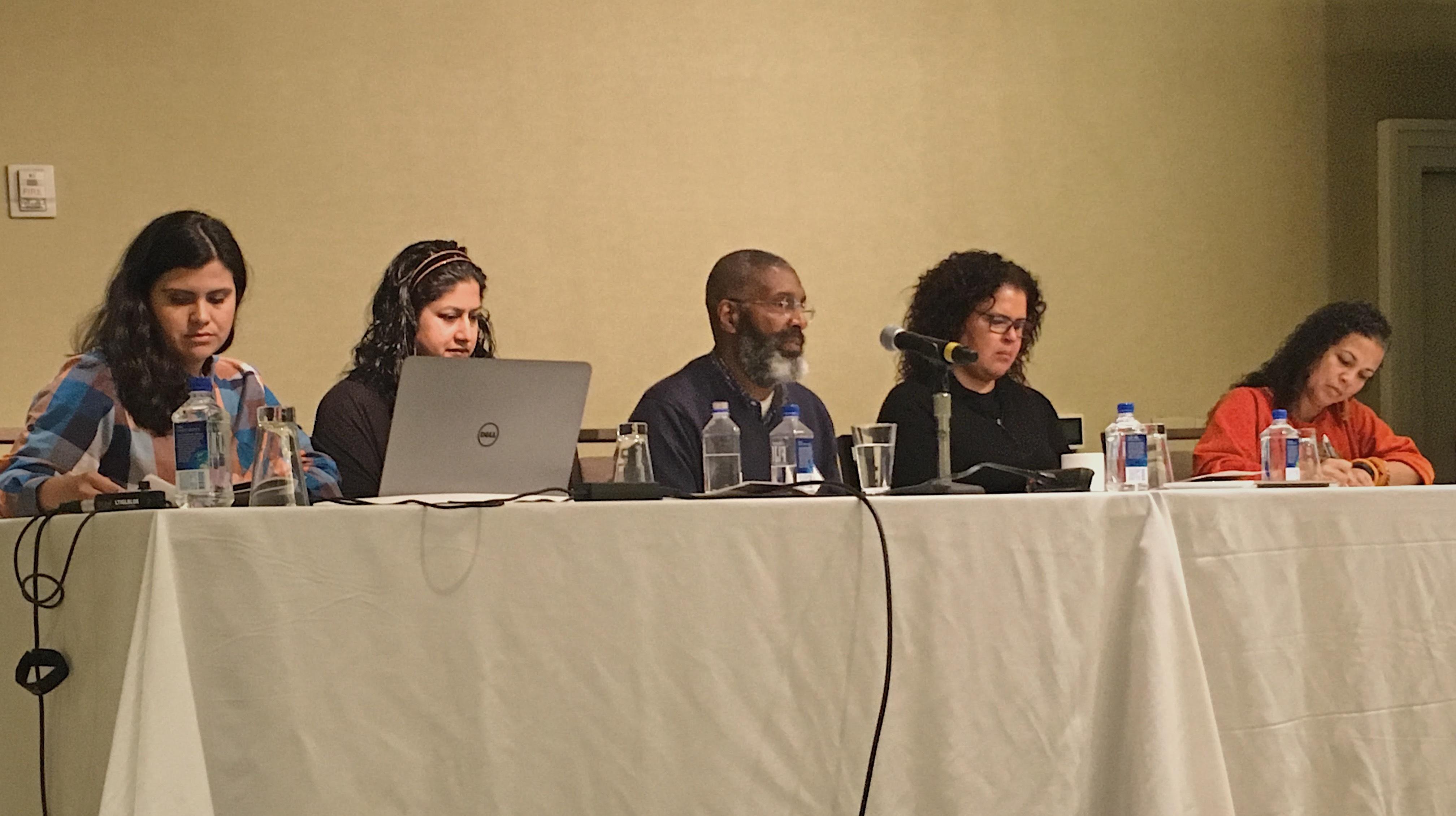 photo of Gayatri and CARL Librarians at a conference