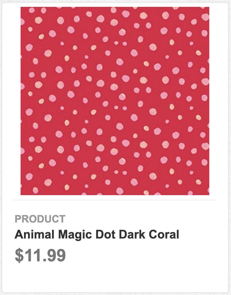 Animal Magic Dot Dark Coral