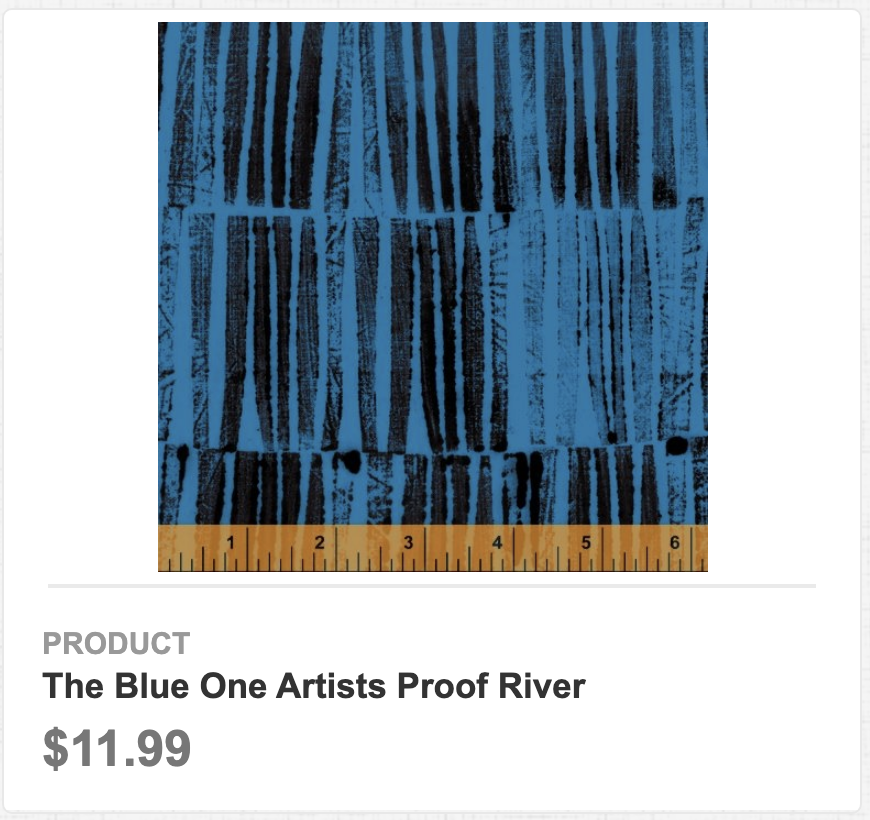 The Blue One Artists Proof River