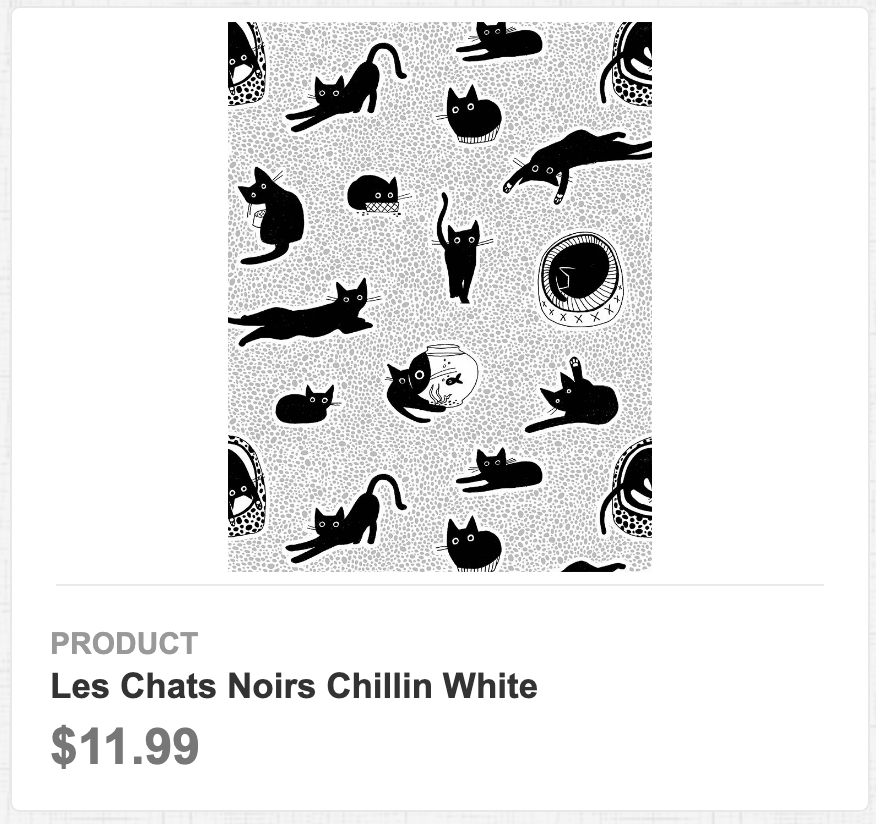 Les Chats Noirs Chillin White