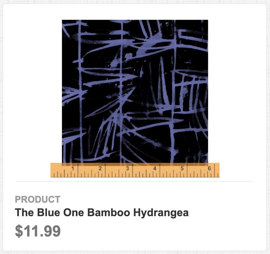 The Blue One Bamboo Hydrangea