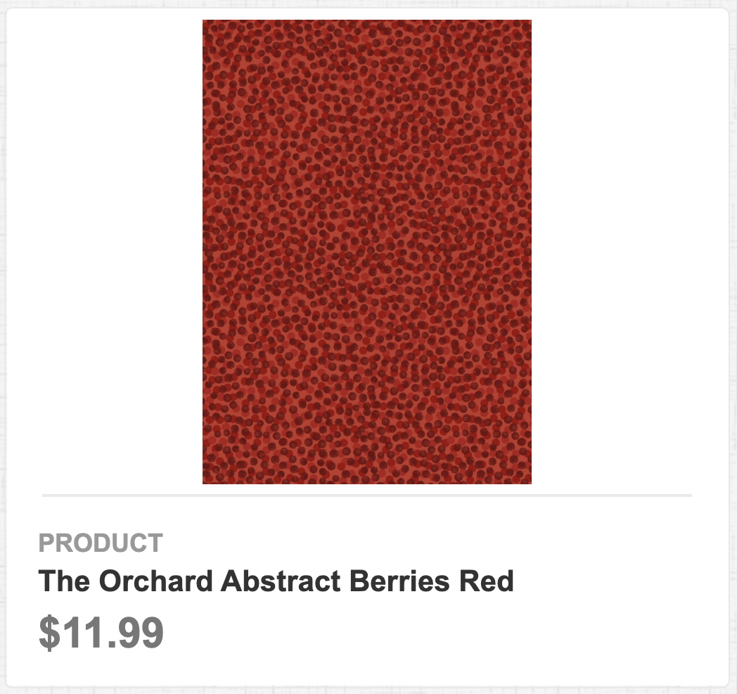 The Orchard Abstract Berries Red