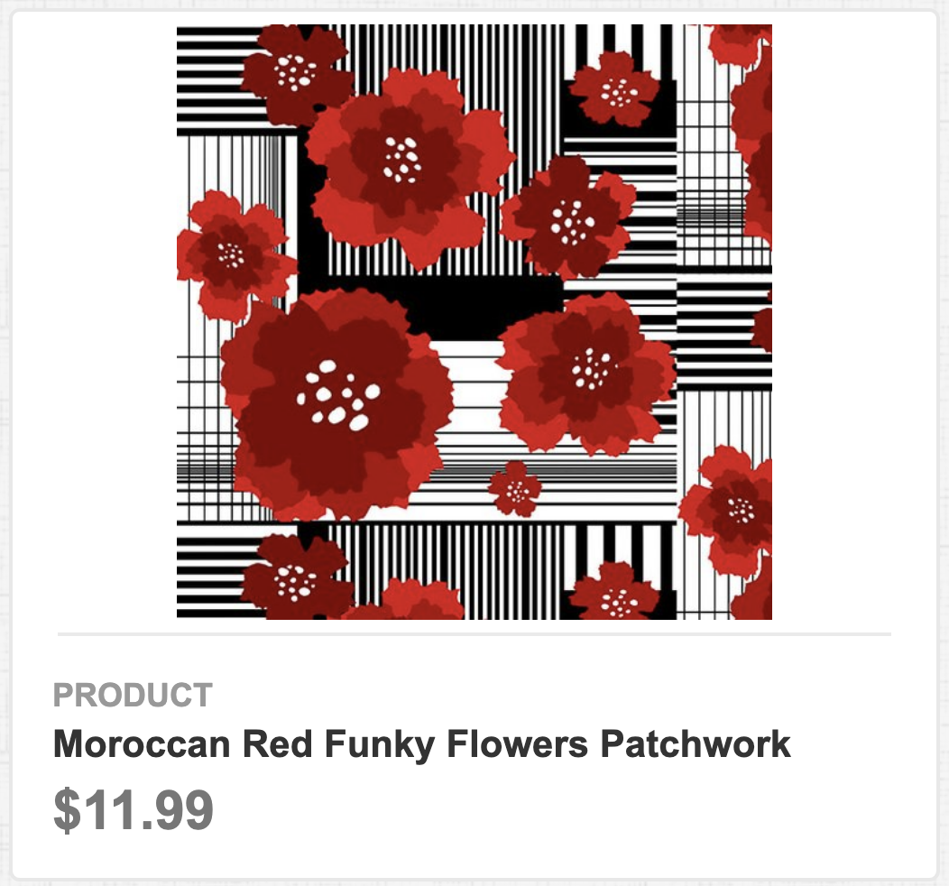Moroccan Red Funky Flowers Patchwork