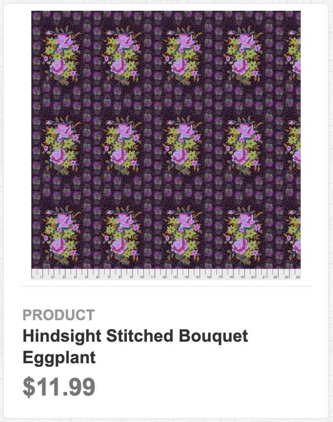 Hindsight Stitched Bouquet Eggplant