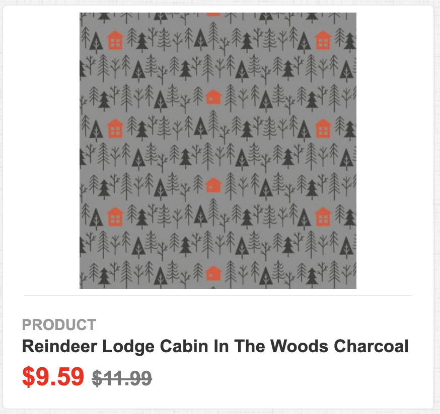 Reindeer Lodge Cabin in the Woods Charcoal
