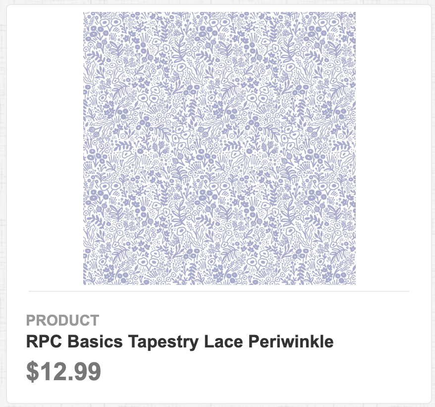 RPC Basics Tapestry Lace Periwinkle