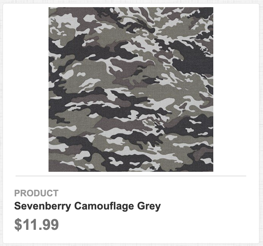 Sevenberry Camouflage Grey