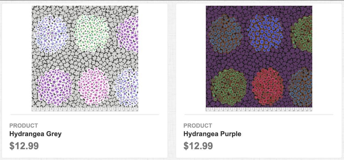 Hydrangea Grey & Purple