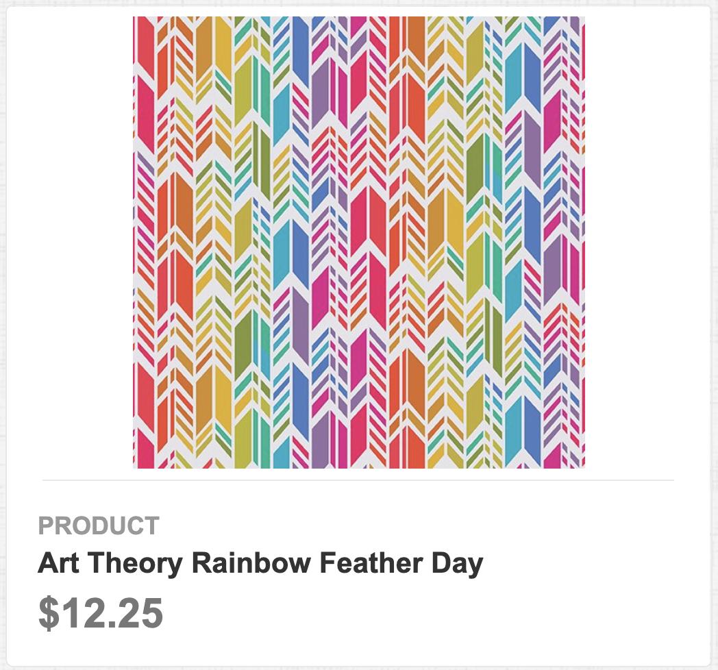 Art Theory Rainbow Feather Day