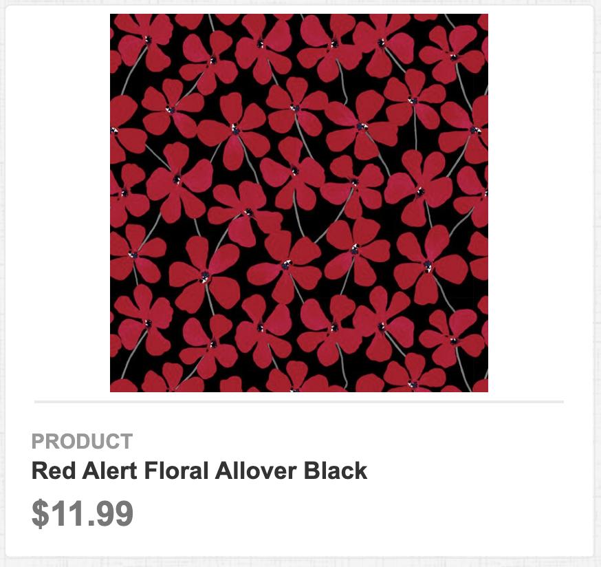 Red Alert Floral Allover Black