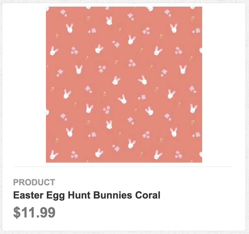 Easter Egg Hunt Bunnies Coral