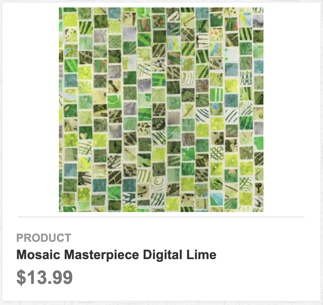 Mosaic Masterpiece Digital Lime