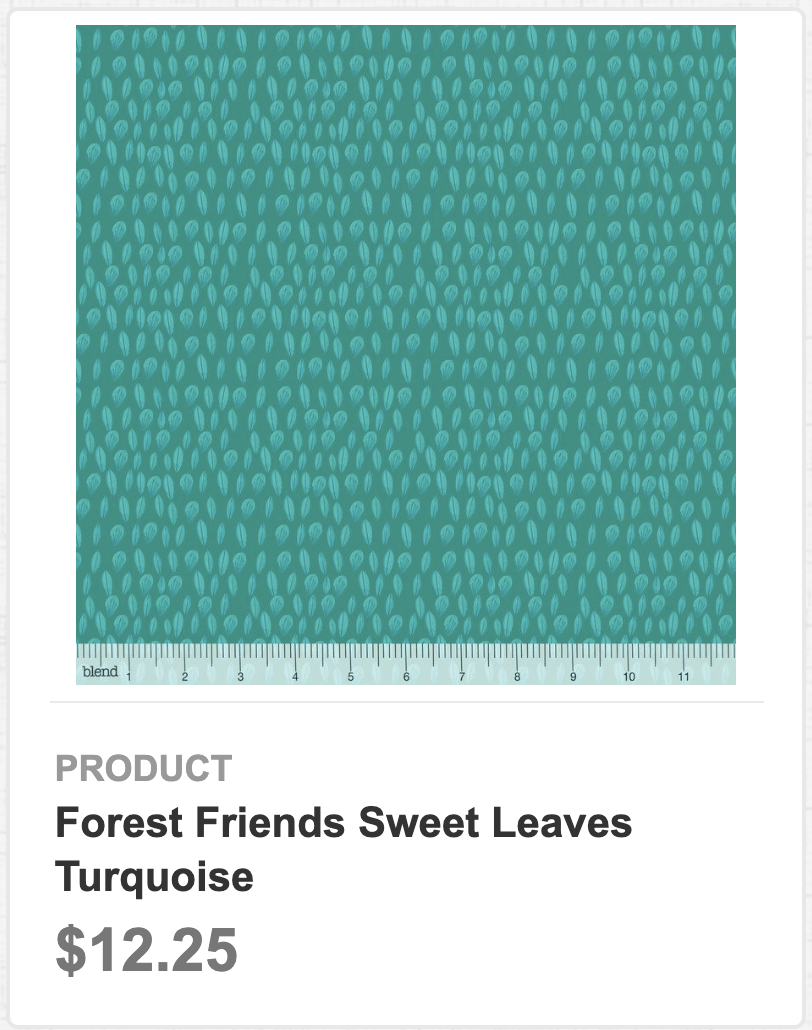 Forest Friends Sweet Leaves Turquoise