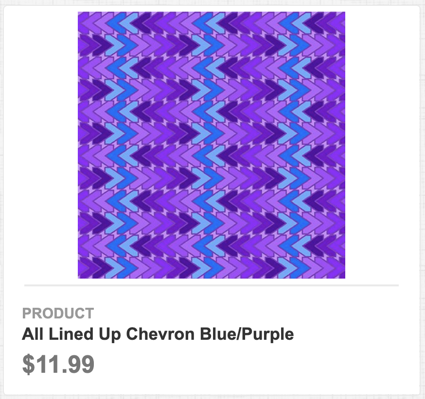 All Lined Up Chevron Blue/Purple