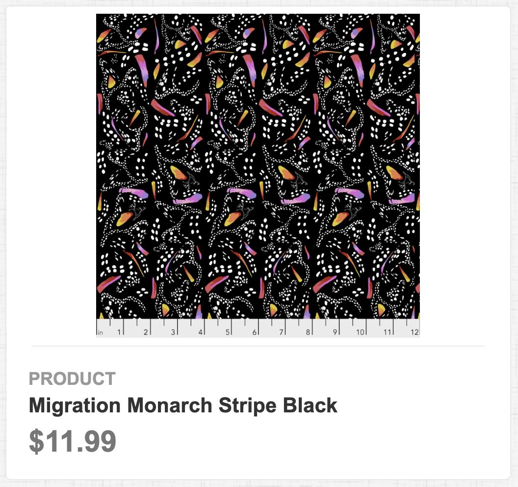 Migration Monarch Stripe Black