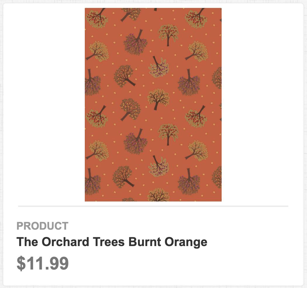 The Orchard Trees Burnt Orange