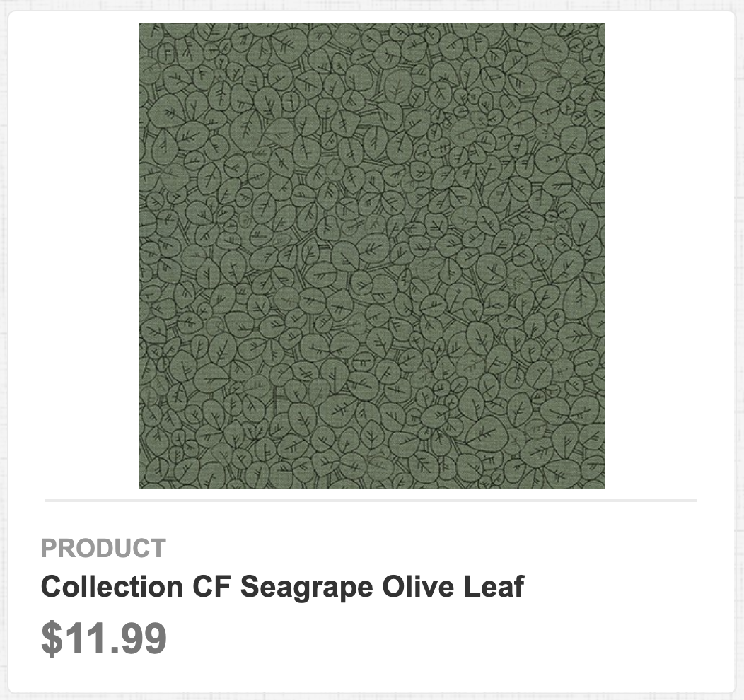 Collection CF Seagrape Olive Leaf