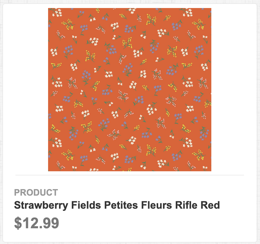 Strawberry Fields Petites Fleurs Rifle Red