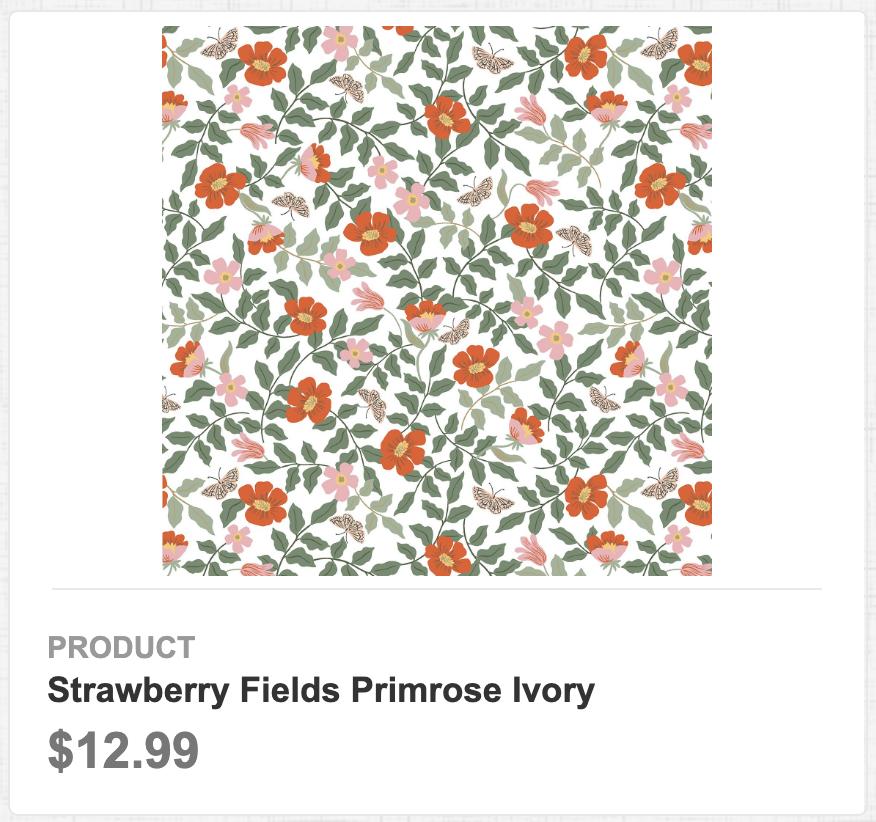 Strawberry Fields Primrose Ivory