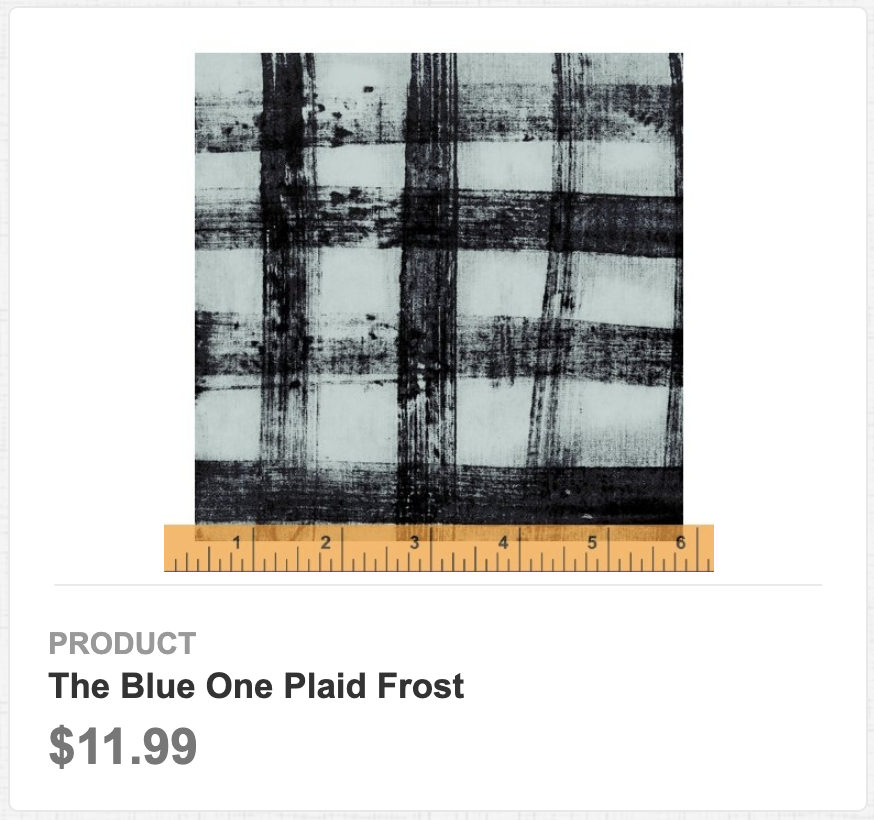 The Blue One Plaid Frost